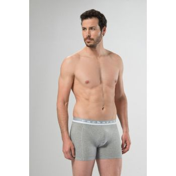 Men's Gray Melange Boxer 95% Cotton 5% Elestane 1316