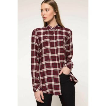 Women's Pearl Check Plaid Shirt I4557AZ.18SP.BR248
