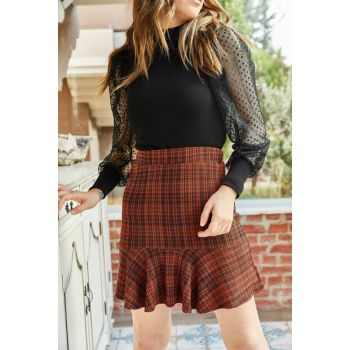 Women's Tile Frilly Stamp Skirt 9KXK7-42898-16