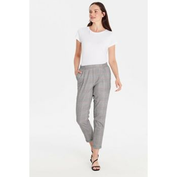 Women's Red Plaid Trousers 9WI997Z8