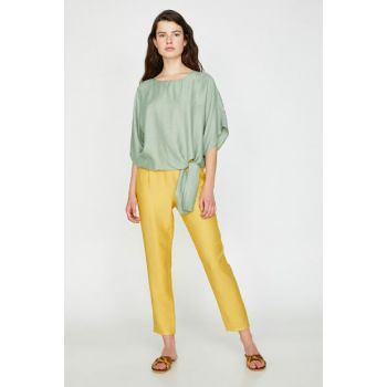 Women Yellow Slim Fit Trousers 8YAK42891UW