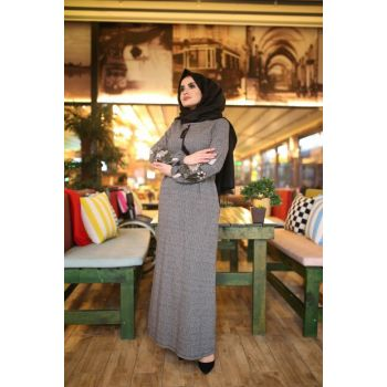 Women's Gray Dress 01918KBELB03014
