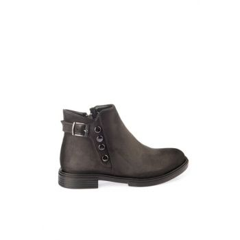 Women's Gray Boots & Bootie 01BOY163720A230