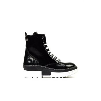 Women's Black Boots & Bootie 01BOY171450A109