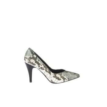 Patterned Women's Classic Heeled Shoes 01AYY166730A109