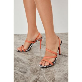 Orange Women High Heels Shoes TAKSS19AZ0031