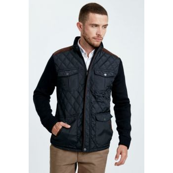 Men's Navy Blue Coats 8W0819Z8
