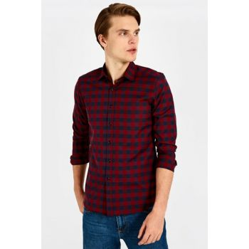 Men's Red Plaid Shirt 9WP328Z8