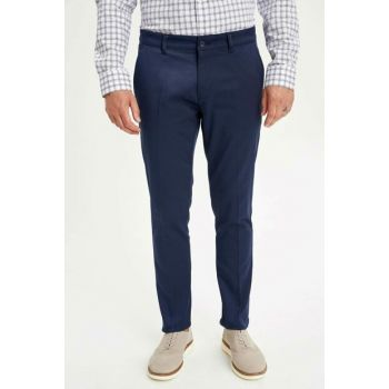 Men's Indigo Blue Tailored Fit Pants L8123AZ.19HS.IN75