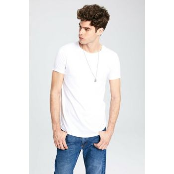 Men's White T-shirt 9WU680Z8