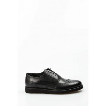 Genuine Leather Black Men Classic Shoes 1849079