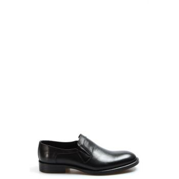 Genuine Leather Black Men Classic Shoes 2273401