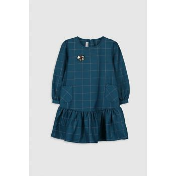 Girl Child Dark Green Plaid Lm7 Dress 9WN180Z4