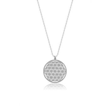 Women's Silver Flower of Life Necklace CG144