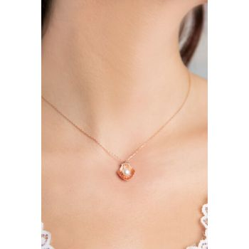 Oval Pearl Pattern 925 Sterling Silver Necklace P2050