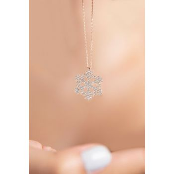 Snowflake Model 925 Sterling Silver Necklace P2048