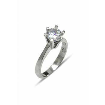 Women's White Stone Single Stone Ring 2020041