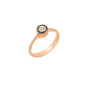 Women's Diamond Mounted Single Stone Ring Rose-20 SGTL2158