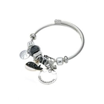 Black Whale Butterfly Adjustable Charm Bracelet ALM0061114