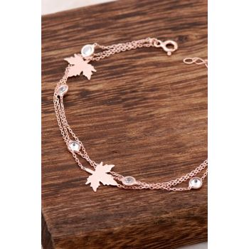 Rose Silver Sycamore Tree Leaf Design Bangle 2381 354631