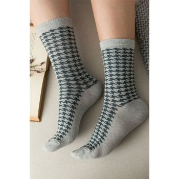 Pied de poule Women's Socks - Gray 1KCORP0152-8682116127035