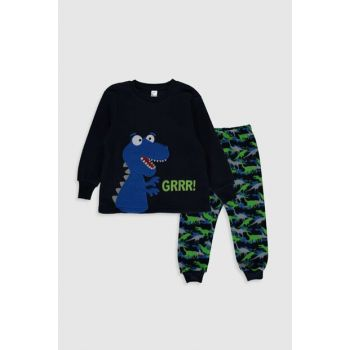 Boys' Navy Blue HFH Pajamas Set 9W8251Z4 Click to enlarge