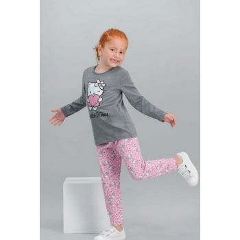 Licensed Dark Gray Girls Pajamas Set L1001-C-V2