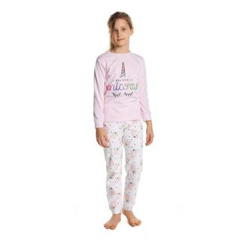 Girls' Patterned Unicorn Color Pajamas G2009