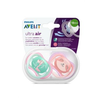 Ultra Air Pacifier 18m + Girl 8710103896159