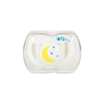 Orthodontic Silicone Pacifier with Storage Box 0 + months White 3817 197260typistipis