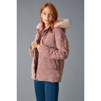 Women's Rose Velvet Coat Rose D89315-151
