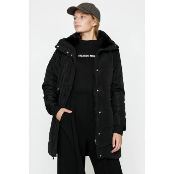 Women's Black Pocket Detailed Coat 9KAK06229QW