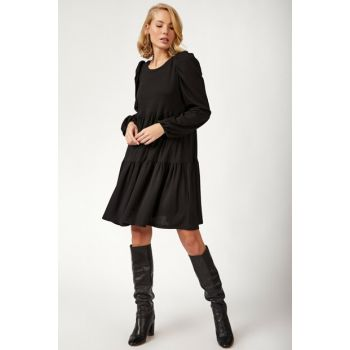 Women's Black Skirt Dress With Flywheel BL00166 BL00166