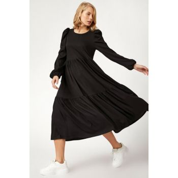 Women's Black Skirt Dress With Flywheel BL00167 BL00167