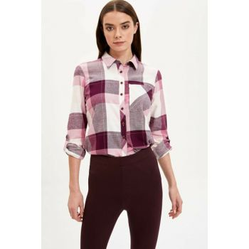 Women's Purple Plaid Tunic H4290AZ.19WN.PR166
