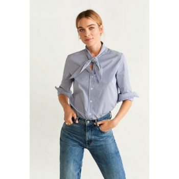 Women's Off White Collar Striped Shirt 57077880