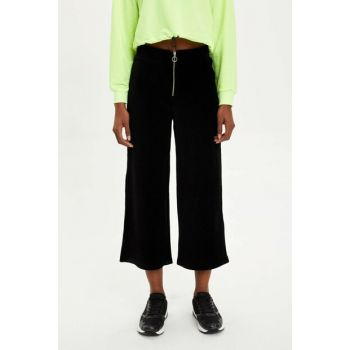 Women's Black Culotte Pants M6600AZ.19WN.BK27