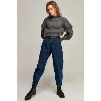 Women's Dark Blue Trousers 2496 Y19W125-2496