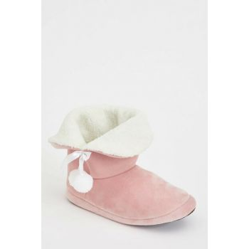 Women's Pink Pompom House Shoes L5668AZ.19WN.PN1
