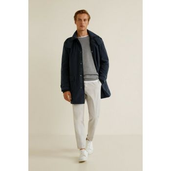 Men's Dark Blue Parka 33063694