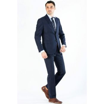 Men's Dark Blue Business Suit - DU1182205011