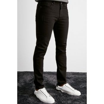 Black Mens Destroyed Slim Fit Jeans TMNAW20JE0421
