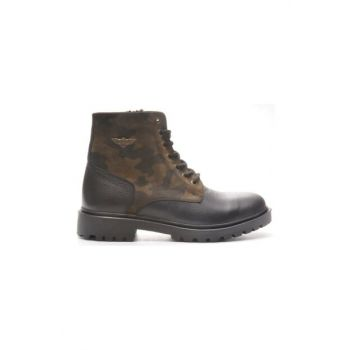 Genuine Leather Camouflage Men Boots TR_BUL-200050
