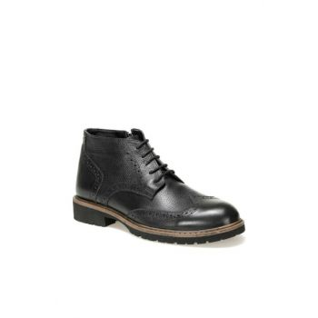 Genuine Leather Black Men's Boots 3699