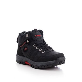 Black Red Unisex Boots PL3020-1