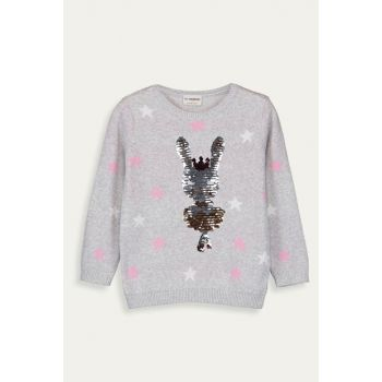 Girl's Gray Melange Ct3 Sweater 9W7994Z4