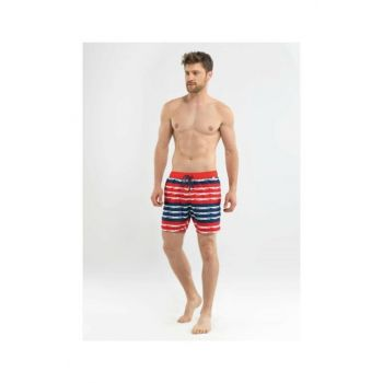 Men's Shorts Swimwear - 8558 - Red