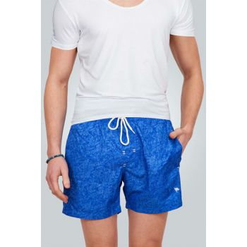 Blue Printed Men's Sea Shorts SH180001-101