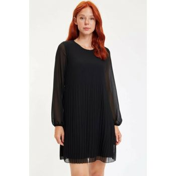 Women Black Long Sleeve Woven Dress M6539AZ.19WN.BK27
