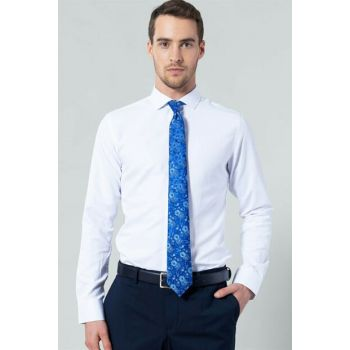 Slim Fit White Men's Shirt - DR17124-155